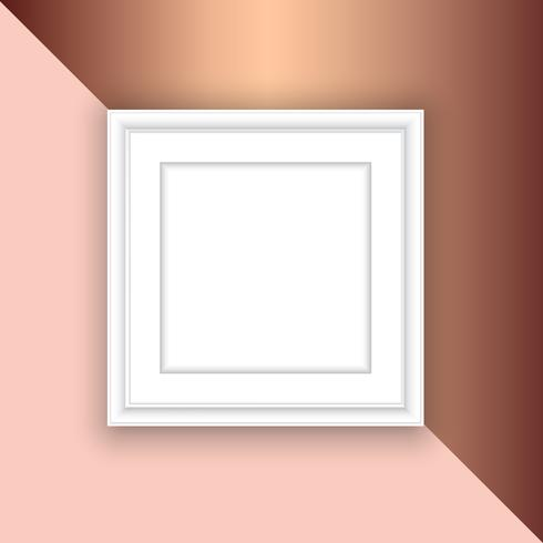 Cadre photo vide sur fond d'or rose