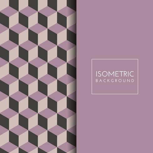 Isometric cube pattern background