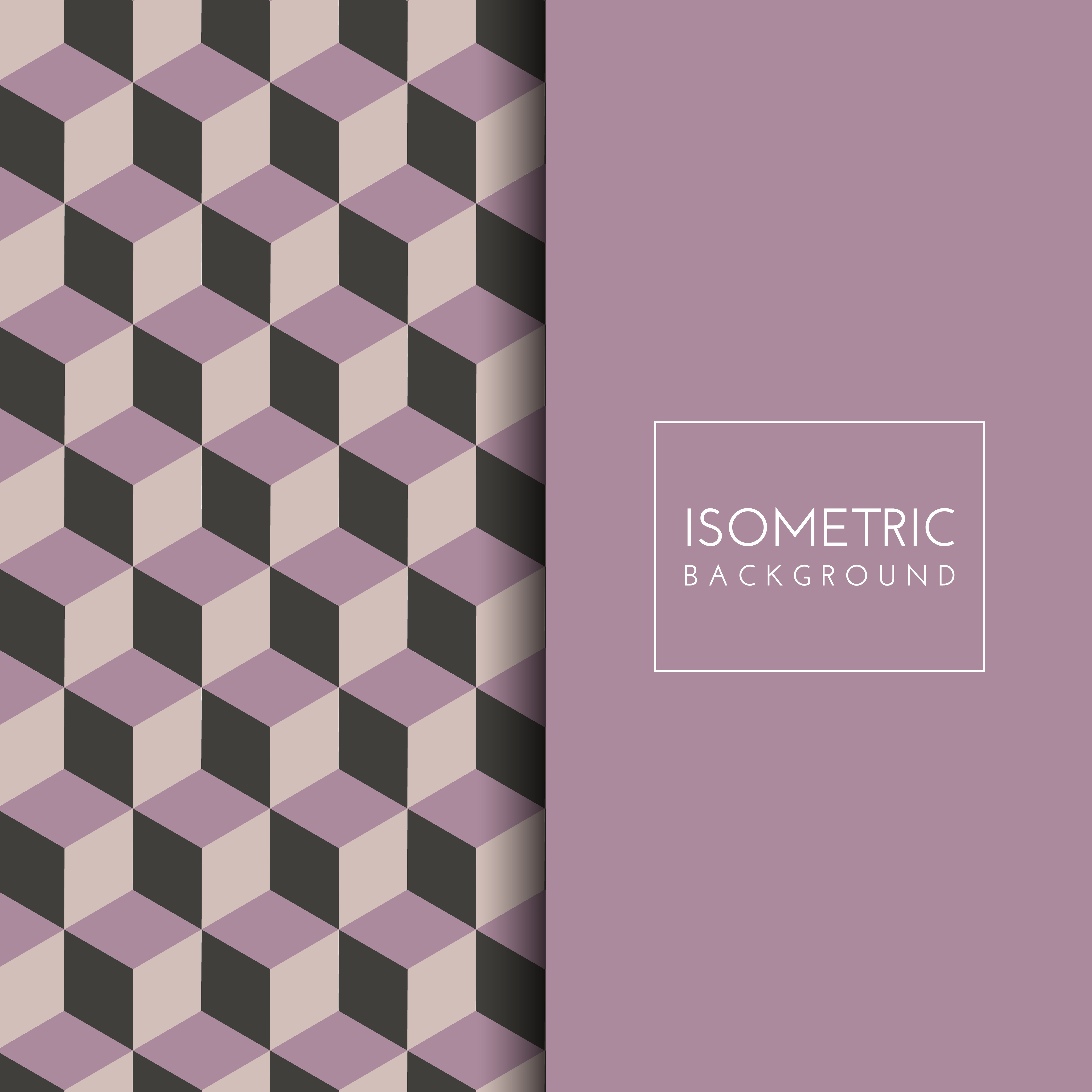 Isometric Cube Pattern Background - Download Free Vector ...