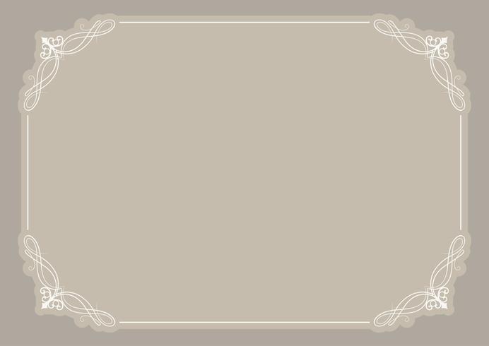 Decorative blank certificate background vector