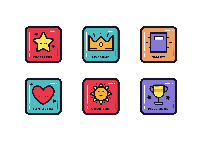Colourful Stars /& Heart Reward Stickers For School Nursery Kids Motivation