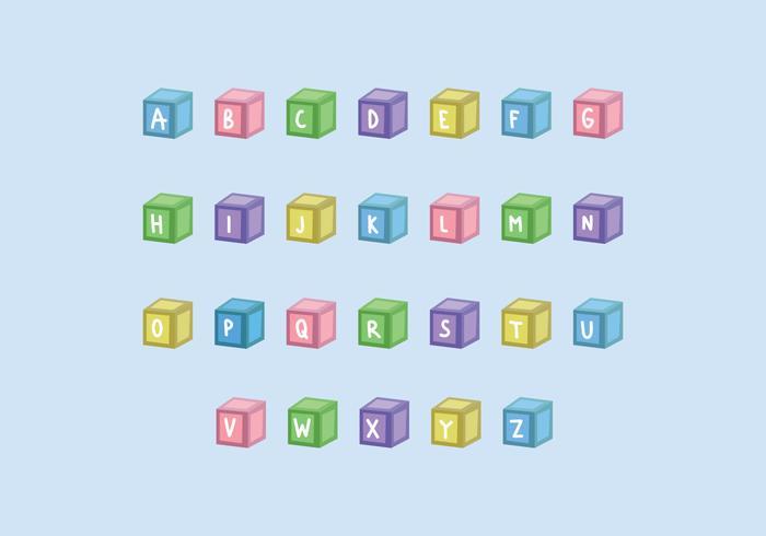 Barnkubar med bokstäver