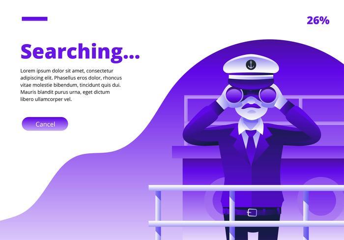 Captain Looking In Binoculars Vector