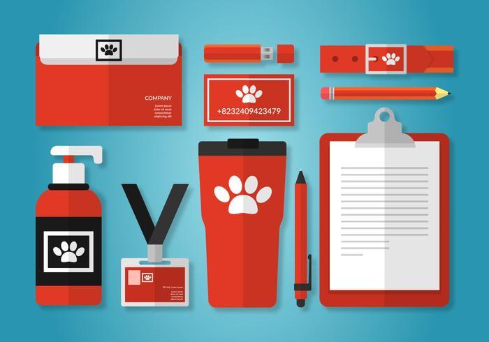 husdjursvård företagsidentitetsmall