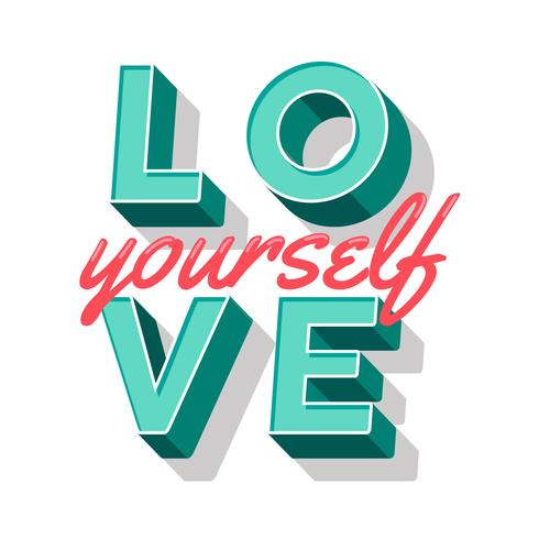 Love Yourself Typography vector