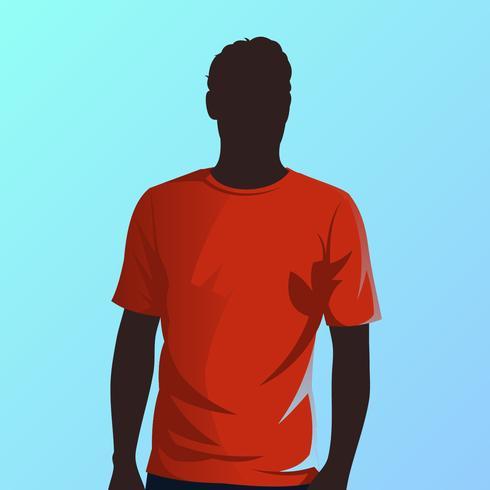 T-shirt rouge modèle vecteur