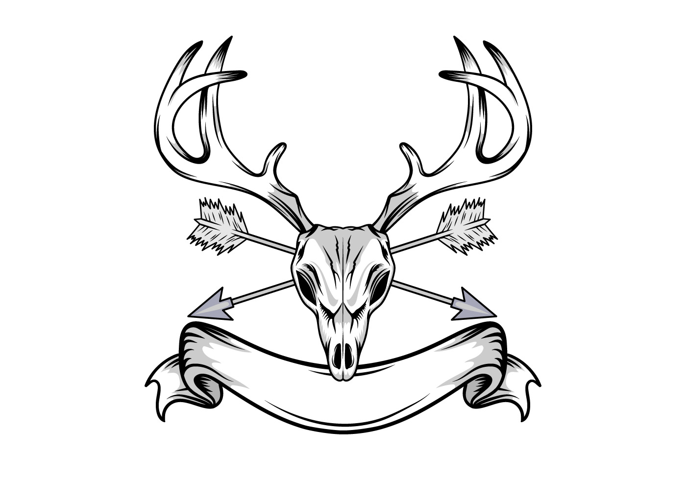 Deer Skull Illustration Download Free Vectors Clipart