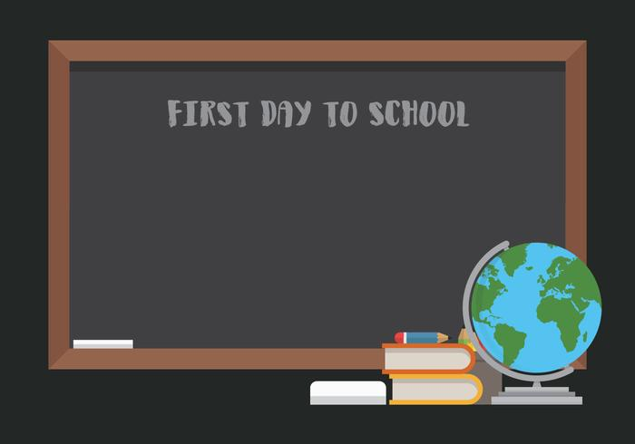First Day Back To School Illustration for Kids or Student. vector