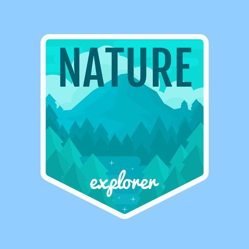 Nature Explorer Illustration Badge