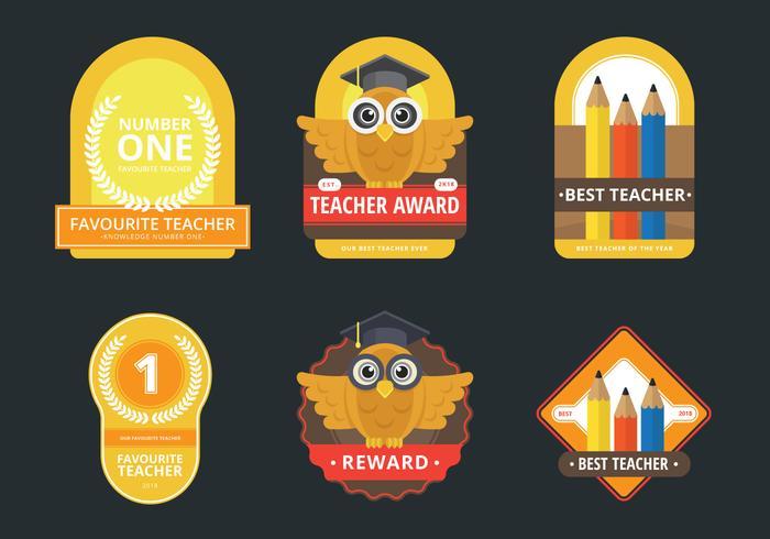 Lärare belöningar klistermärke Set, märke och Emblem Set