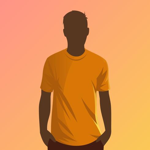 Orange T-shirt Modellvektor