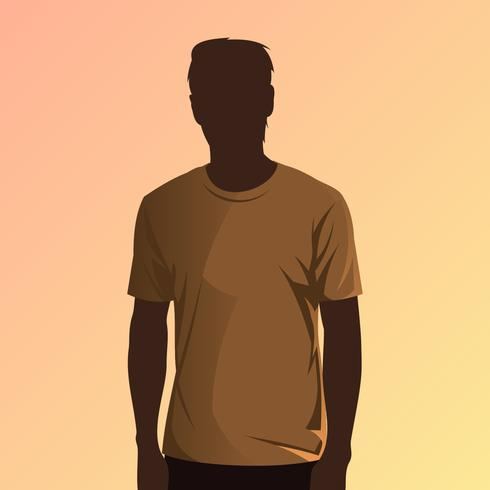 Brown-T-Shirt vorbildlicher Vector