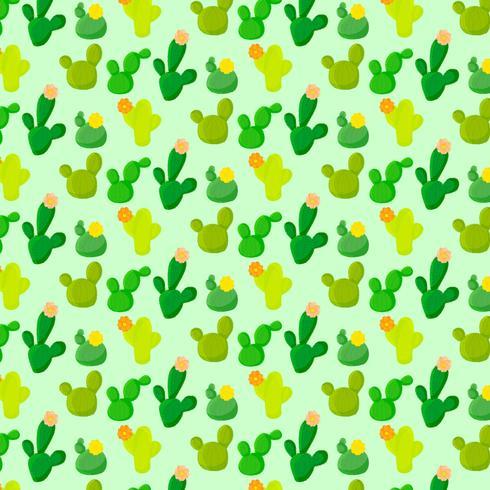 Vector colorido patrón de cactus sin fisuras