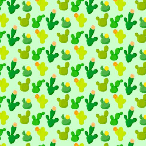 Vektor-buntes nahtloses Kaktus-Muster