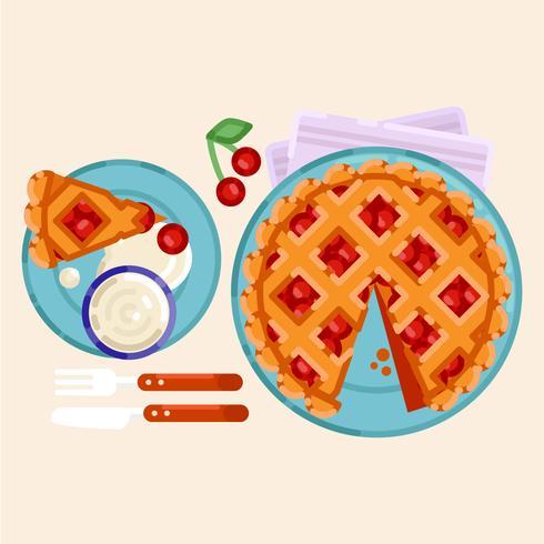 Vector Illustration de tarte aux cerises