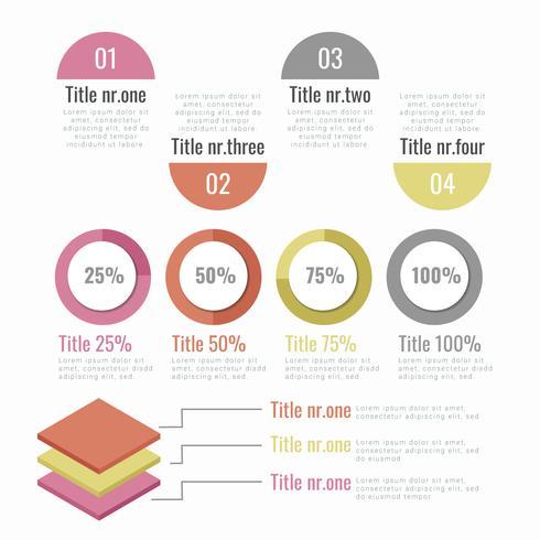 Elementos de infográfico de vetor