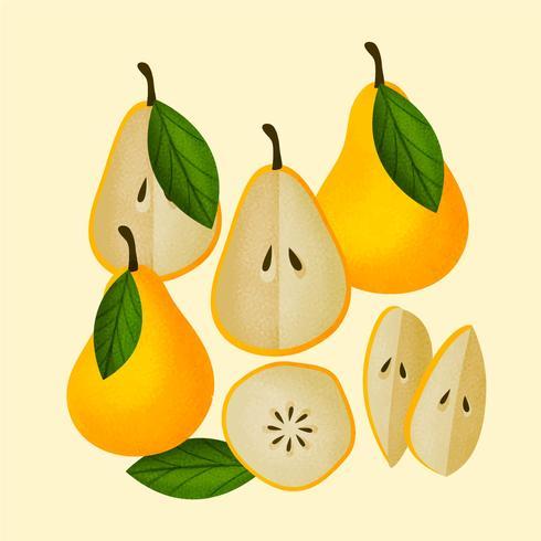 Vektor handdragen päron