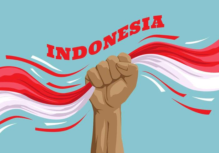 Indonesien Pride Vector Illustration