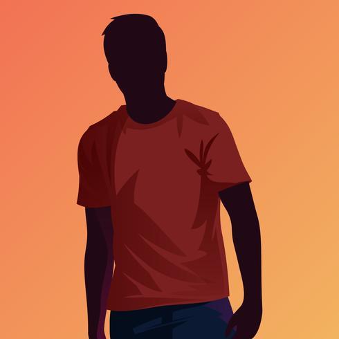Röd rödbrun T-shirt Modellvektor