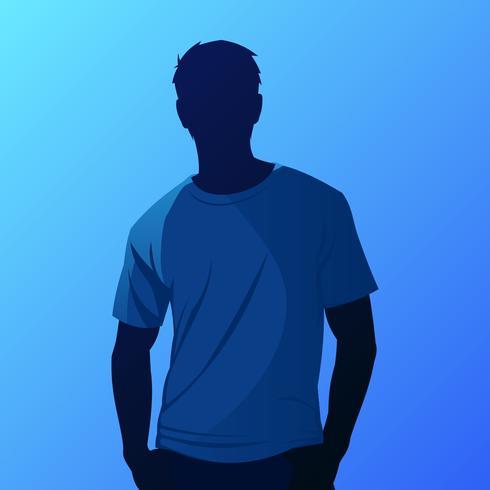 Vetor de modelo de camiseta azul