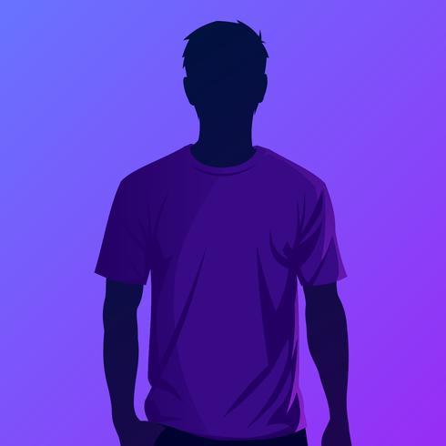 Lila T-Shirt-Modell-Vektor