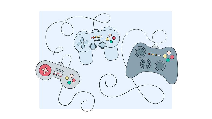 joystick game controls vector
