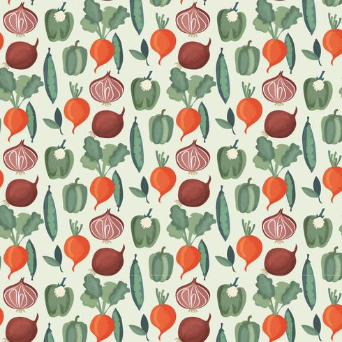 Vector patrón de acuarela de verduras