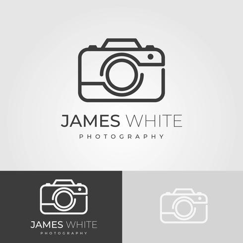 Plantilla de Vector de logotipo plano minimalista fotógrafo