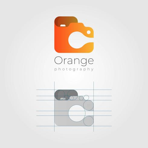 Modern Minimalist Photographer Logo With gradient style  Vector Template