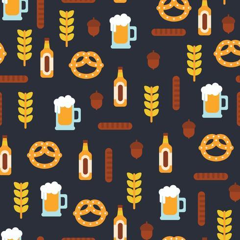 Design plano padrão de Oktoberfest