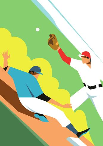 Illustration vectorielle de baseball park