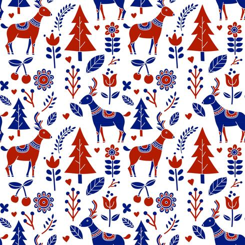 Scandinave Folk Pattern Vector