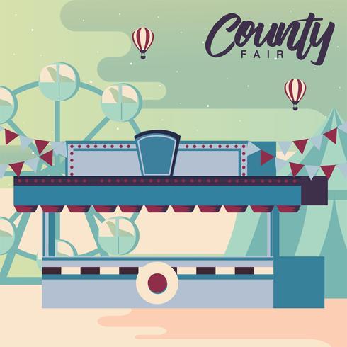 County Fair Design Vector