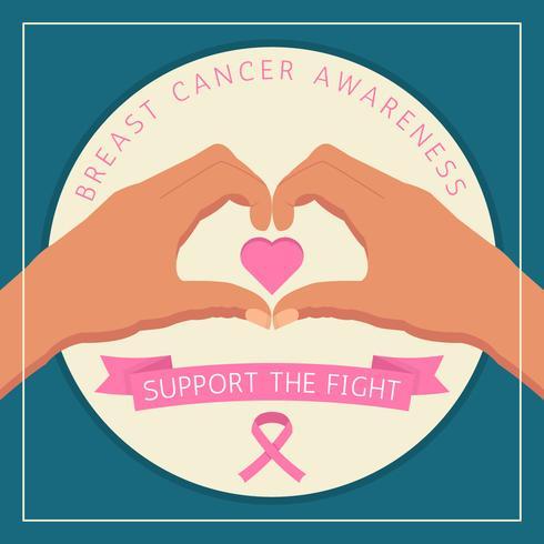Belos Câncer de Mama Consciência Vetores Mídia Social