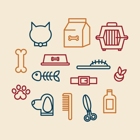 Iconos de cuidado del animal doméstico