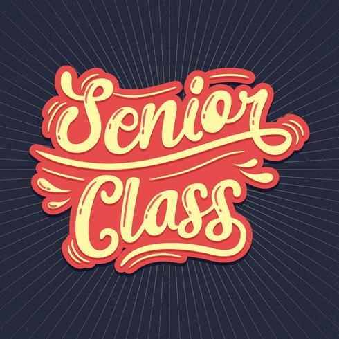 Senior klass typografi
