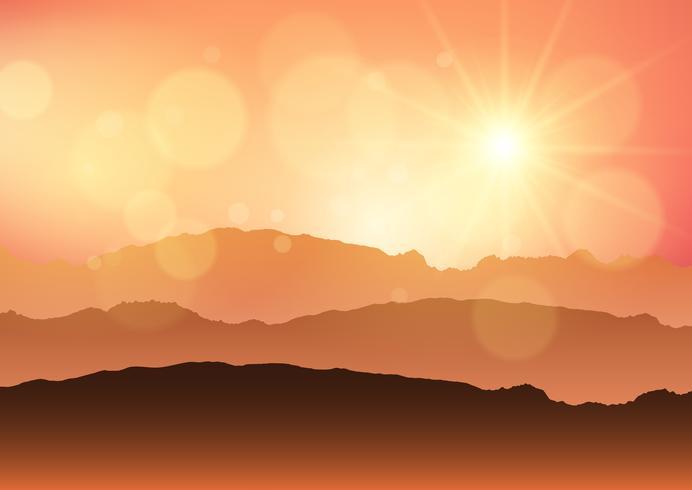 Solnedgång landskap