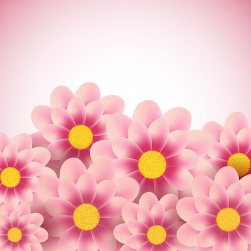 Dekorativ blommig bakgrund