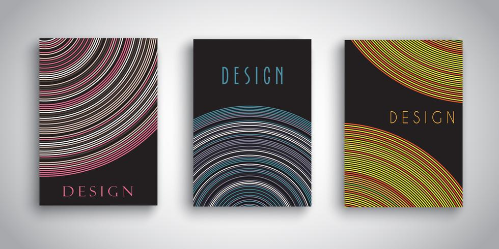 Brochuras abstratas com desenhos listrados