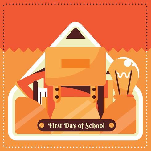 Primeiro dia de desenho vetorial de escola