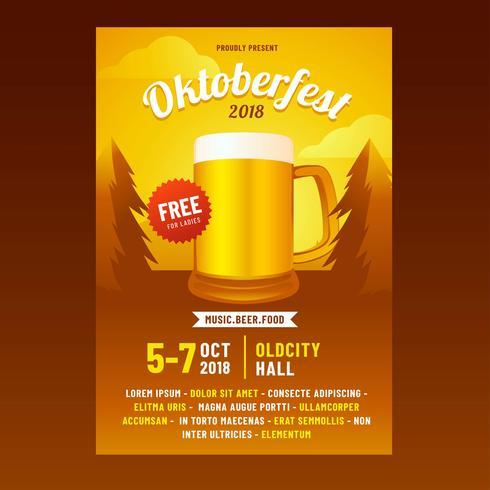 Oktoberfest-Broschüren-Vektor