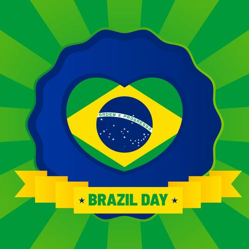 Unieke Brazilië Independence Day elementen vectoren