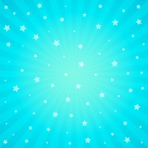 fondo azul con estrella y rayos