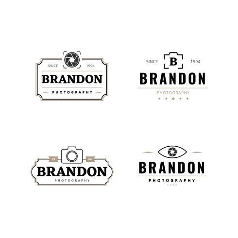 Colección de logotipos de fotografía retro