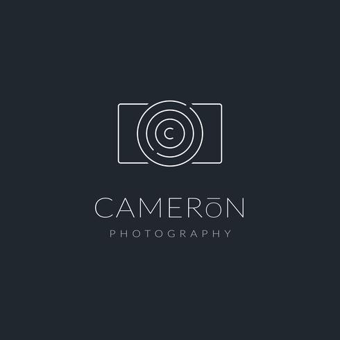 Minimalistische fotograaf Logo Vector