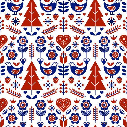 Escandinavo Folk Pattern Seamless Vector