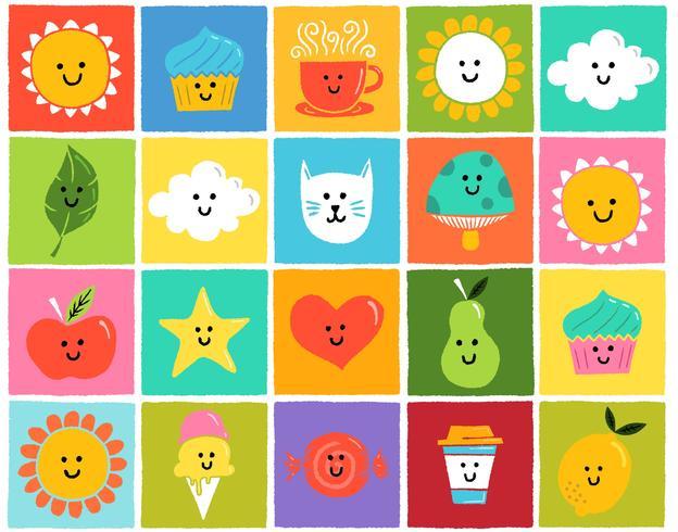 ícones coloridos bonitos