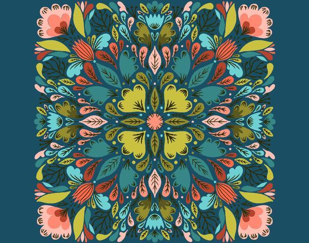 motif floral symétrique