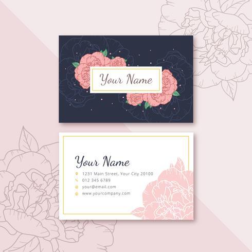 Cartão de Nome Feminino