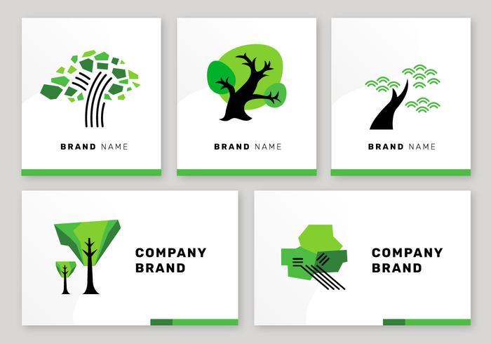 Simple Tree Logo Elements Éléments de marque Vector